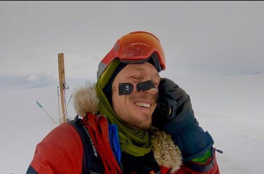 Colin O'Grady posted his triumphant conclusion to his trek across Antarctica on Instagram.