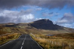 The Famed Old Man of Storr rock formation can be seen for miles atop the Trotternish ridge. (Glenn Davis/Glenndavisphotography.com)