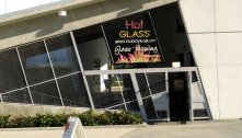 Hollywood Hot Glass offers classes in glassblowing at the ArtPark in Hollwyood, Fla. (Craig Davis/Craigslegztravels.com)