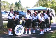 The St. Andrews Pipe Band gets ready to play at the SE Florida Scottish Festival. (Craig Davis/Craigslegztravels.com)