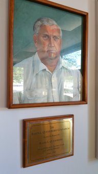 The late Ralph Quesinberry remains a legendary figure in Chagrin Falls lore. The high school gymnasium bears his name. (Craig Davis/Craigslegztravels.com)