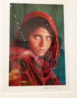 The iconic photo 'Afghan Girl' is on display in the photography exhibit at the Norton Museum. (Fran Davis/Craigslegztravels.com)
