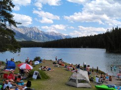 Johnson Lake is the first stop for recreation on the Minnewanka Loop near Banff. (Craig Davis/craigslegztravels.com)