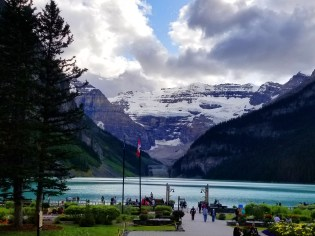 Looking across Lake Louise toward the Victoria Glacier. (Craig Davis/craigslegztravels.com)