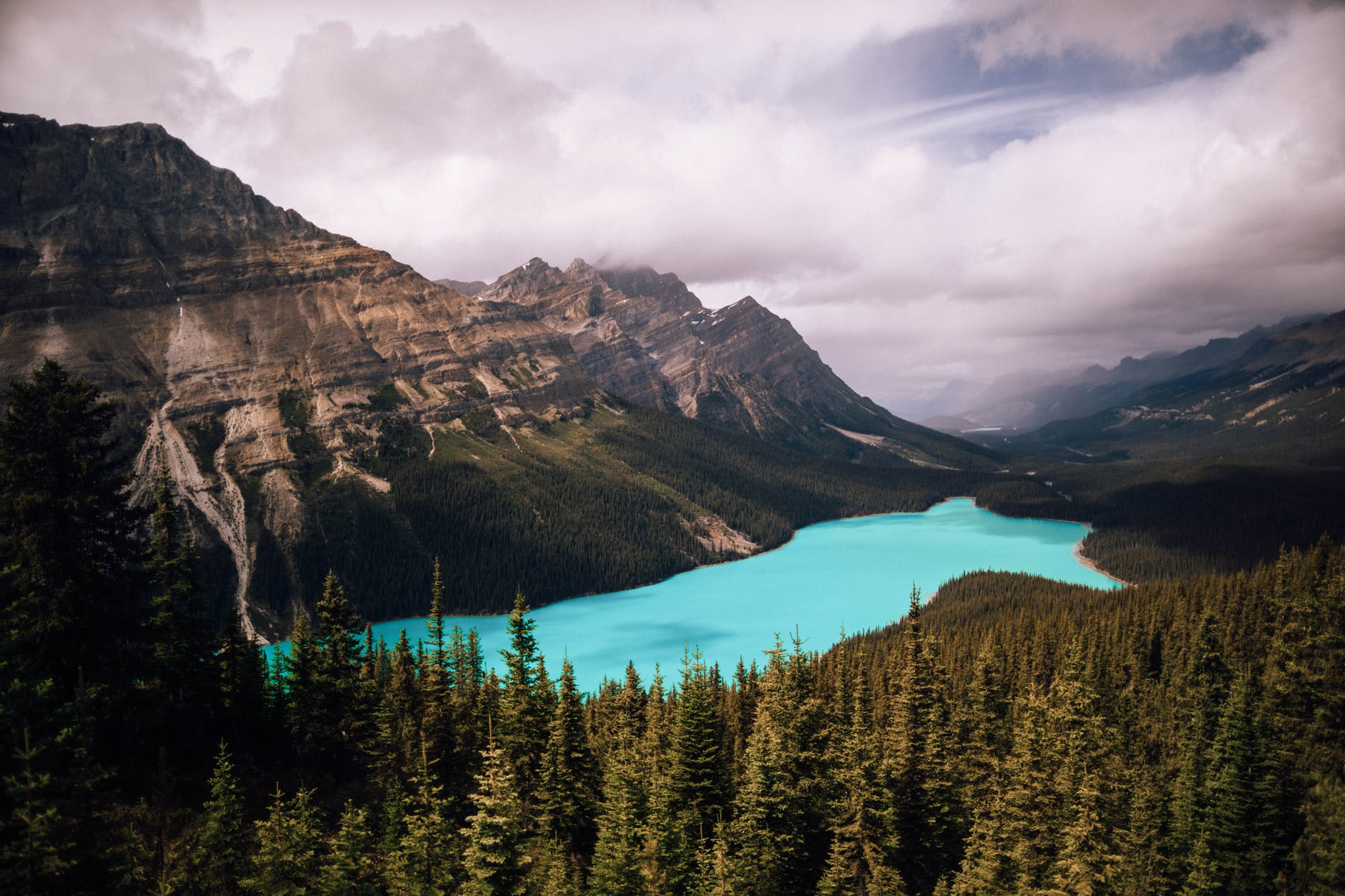Peyto Lake is the most photographed spot in the Canadian Rockies. It requires a hike to the summit. (Pexels)