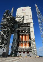 ULA's massive Delta 4-Heavy rocket is already on the pad in preparation for a June 2020 launch. (Craigslegztravels.com)