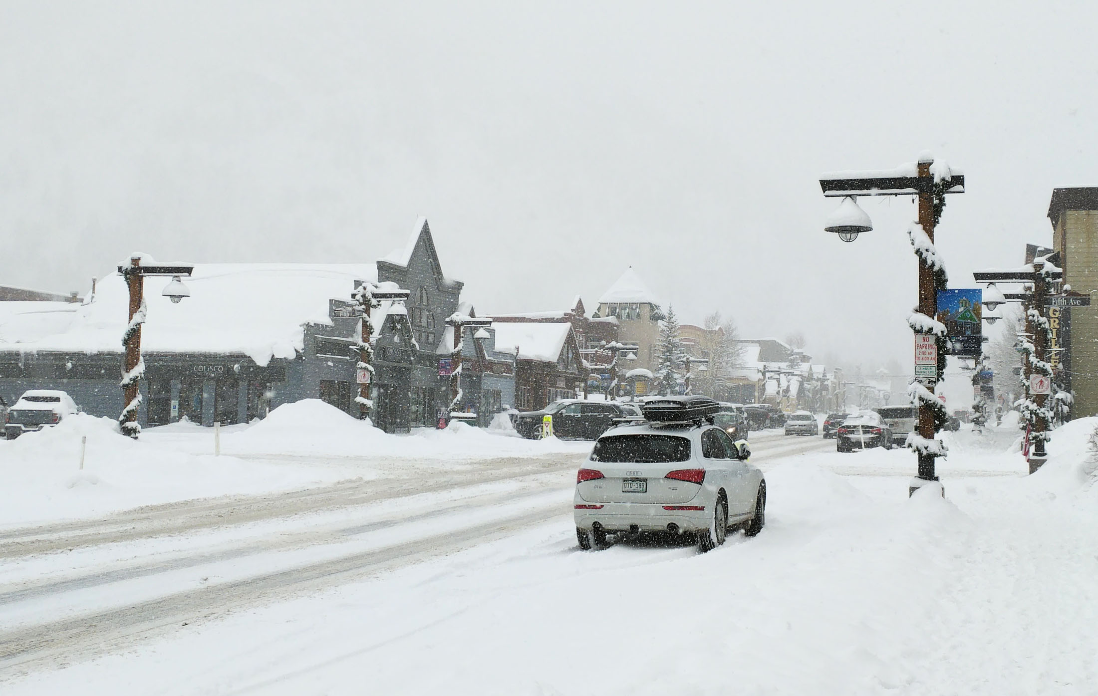 Winter road conditions in and around Frisco, Colo., were a concern in getting to ski resorts on snowy days. (Craig Davis/Craigslegztravels.com)