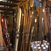 Vintage Ski World has skis and ski memorabilia dating to the post World War II Era, at the Frisco Emporium.