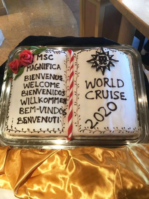 The MSC World Cruise was planned for 117 days with 43 stops in 25 countries. Another world cruise is planned for Jan. 2021 but following a different route. (Courtesy/Woywod family)