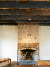 Renovation of the slaves quarters at the Owens-Thomas house revealed haint blue paint that enslaved people applied to ward off evil spirits. (Craig Davis/Craigslegztravels.com)