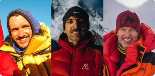 Climbers Juan Pablo Mohr, Muhammad Ali Sadpara and John Snorri have been missing since Feb. 5 when they attempted to make their way up the final segment of the K2 mountain in Pakistan.