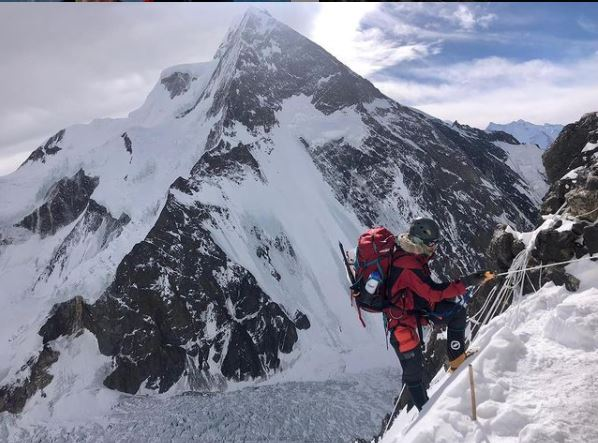 American Colin O'Brady was among at least 49 climbers with aspirations to reach the summit of K@ mountain in Pakistan in the winter of 2021. Ten Nepalese climbers succeeded in reaching the peak. (Colin O'Brady, Instagram)