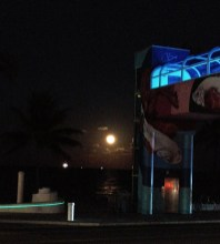 Watching a super moon rising off Fort Lauderdale from Lona Cocina & Tequileria at the Westin. (Craig Davis/Craigslegztravels.com)