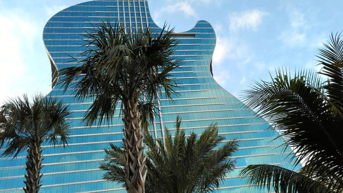 The Guitar Hotel at Seminole Hard Rock opened in late 2019, a few months before COVID temporarily closed it. (Craig Davis/craigslegztravels.com)