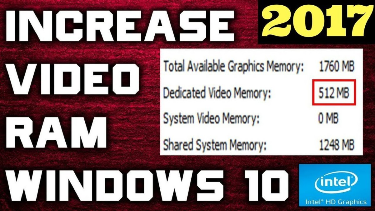How to Increase Dedicated Video RAM in Windows 10