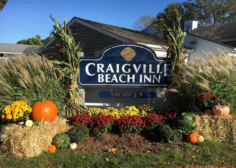Property Sign Decorated for Fall