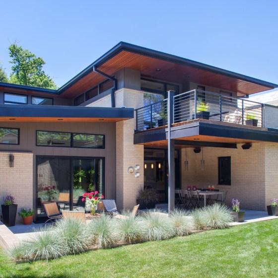 Backyard of the Denver home designed by Craine.