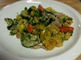 A quick whip up pasta. Picture bad, flavor -- good!