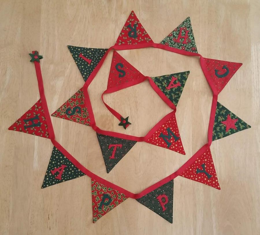 Craisymissdaisy traditional christmas bunting