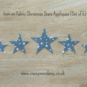 craisymissdaisy iron on fabric christmas star set