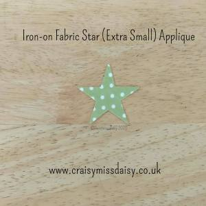 craisymissdaisy iron on fabric star extra small