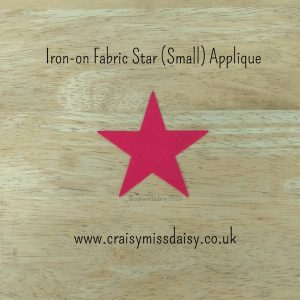 craisymissdaisy iron on fabric star small