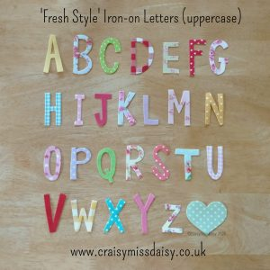 craisymissdaisy fresh style uppercase iron on letters