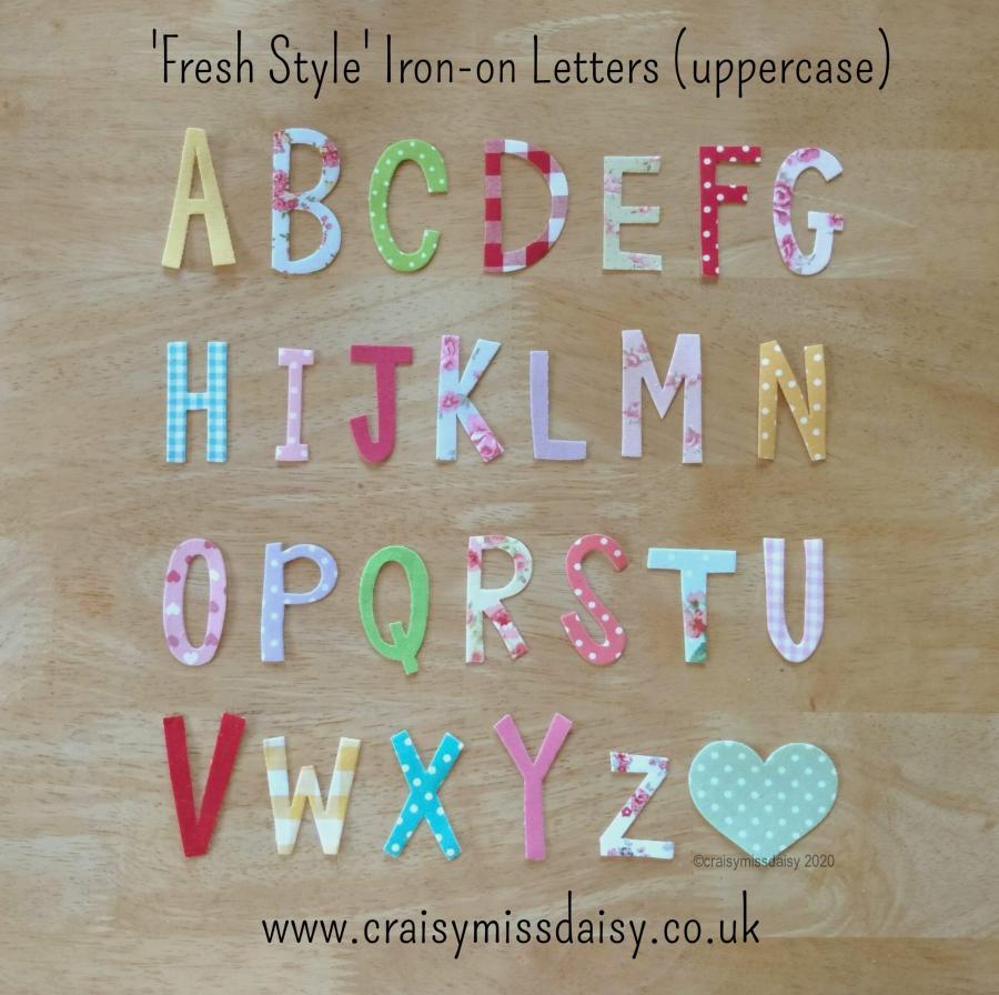 craisymissdaisy fresh style uppercase iron on letters