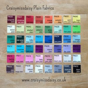 craisymissdaisy-plain-colours-2020