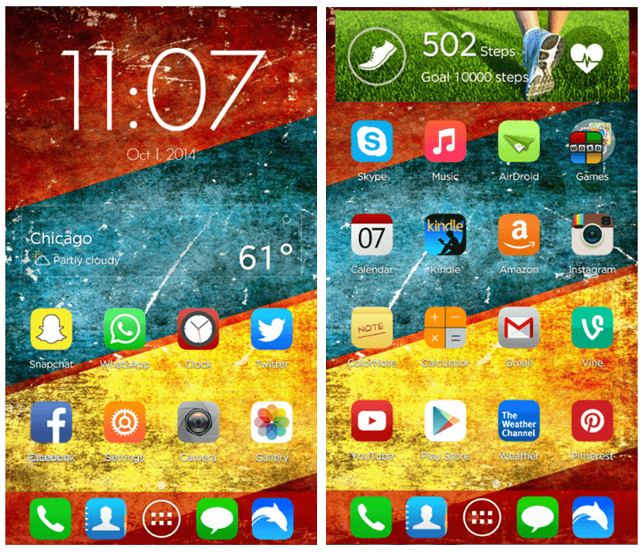 Android Custom Widget Home Screens