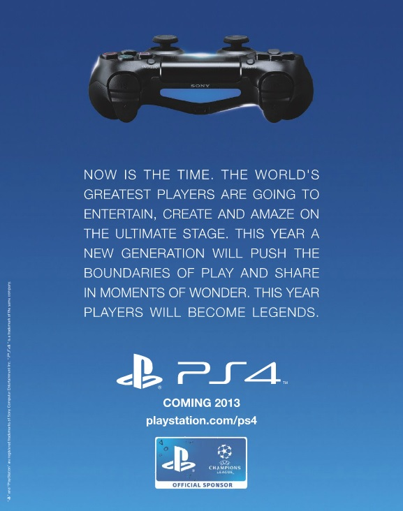 New PS4 Advert Tells All For UK Gamers