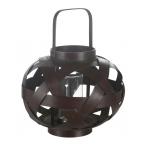 brown lacered lantern