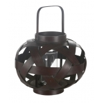 brown lacered lantern