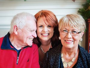 Stephanie Dickie with her parents Stan & Susan Bigg
