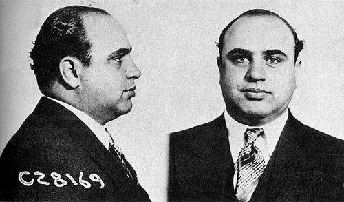 Chicago's most infamous son, Al Capone - not, as far as we know, much of a cyclist....
