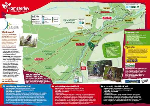 Hamsterley Forest Ride Guide Trails Mountainbiking Trail Map