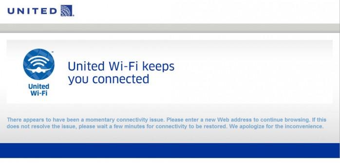 United Wifi Fail