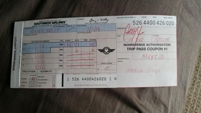 Southwest Paper Ticket