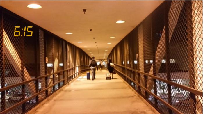 Bridge from Parking at Terminal 1 LAX