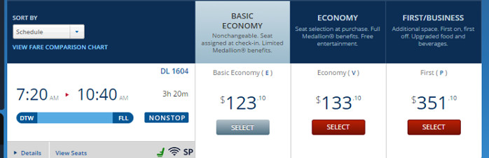 Delta.com Basic Economy