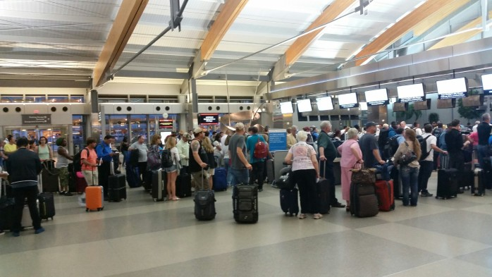 RDU Terrible Check In Lines US Airways