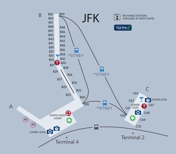 map of jfk terminal 4 Delta Moves Most Regional Flights To Terminal 4 At Jfk Tomorrow map of jfk terminal 4