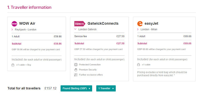 GatwickConnects Pricing