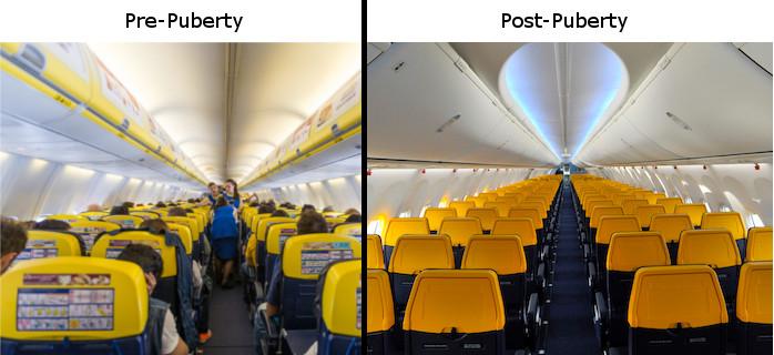 Ryanair Old Interior New Interior