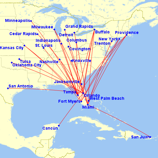 miami airport map frontier