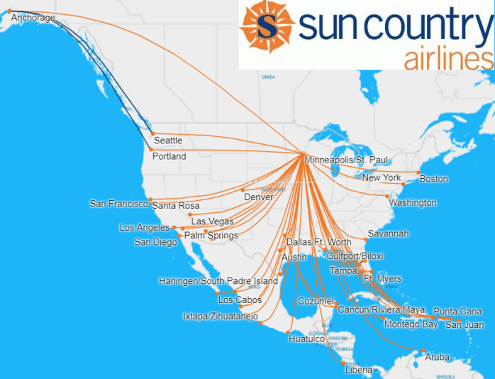 Sun Country's New CEO Could Remake the Airline, If Things Go ... on state maps, neighborhood maps, city maps, longitude maps, radius maps, service maps, street maps, phone maps, area code maps,