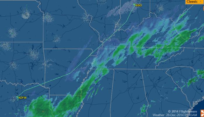 American 376 IND DFW 28DEC via FlightAware