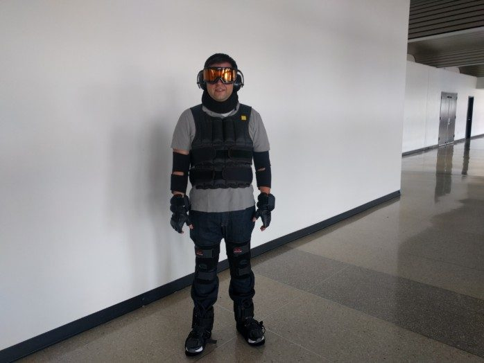 Wearing the Aging Suit at LAX