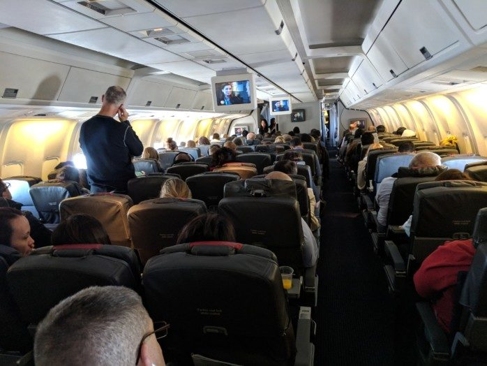 Flat Beds on the American 767-300, Then Coach Home (Trip