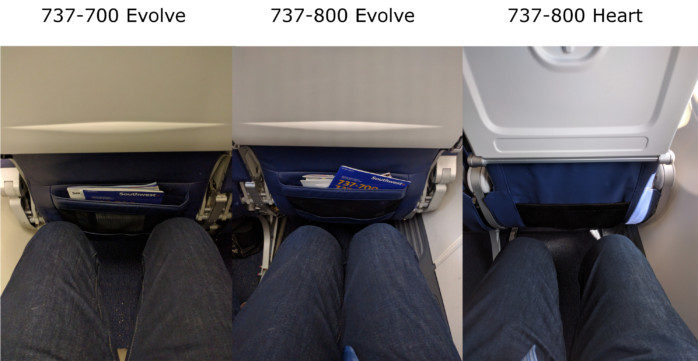 Southwest Legroom Comparison